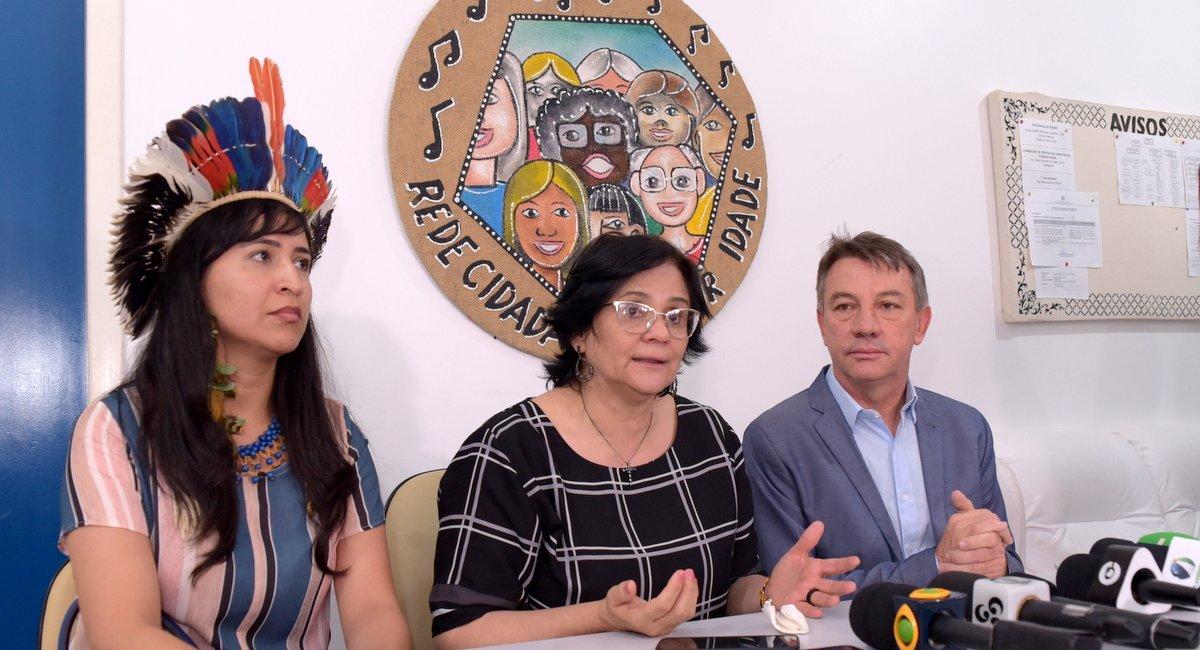 Ministra Damares Alves lança programa e anuncia instalação de gabinete institucional em Roraima