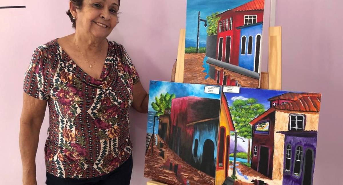 PONTA DE PINCEL   Estudantes apresentam trabalhos desenvolvidos em projeto de pintura