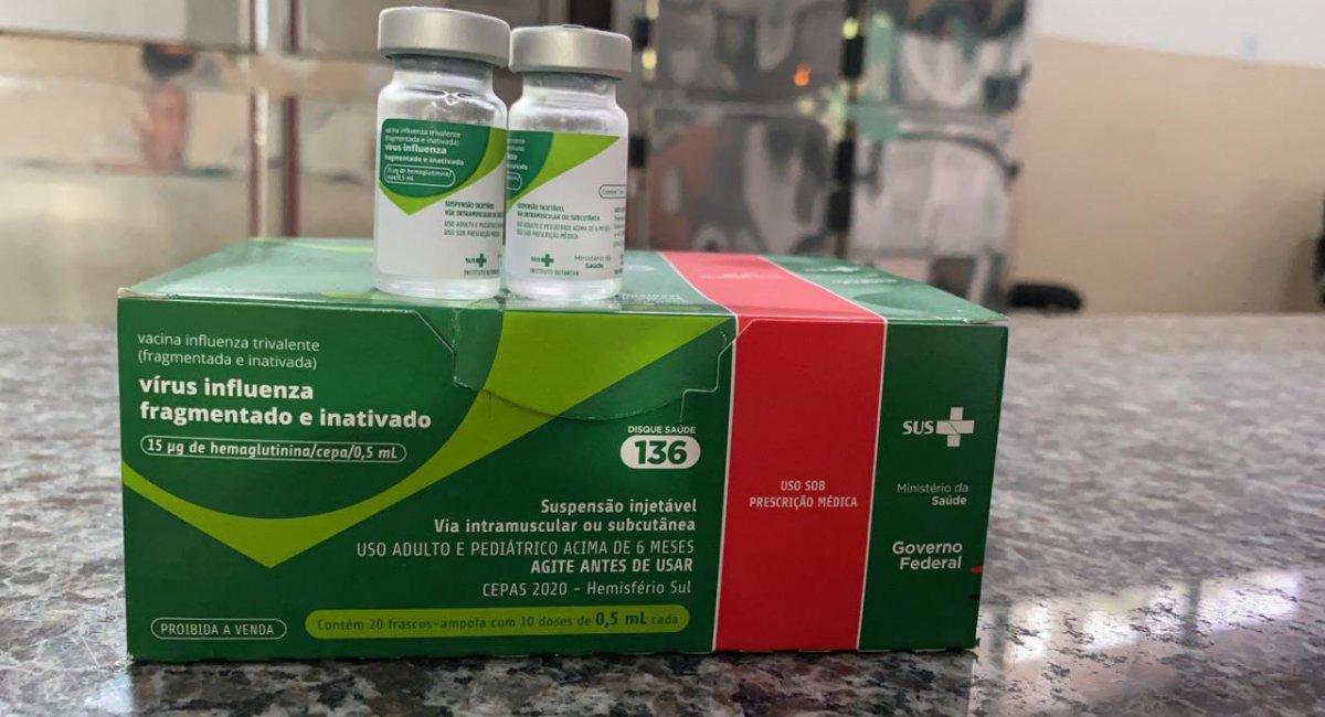 VACINAÇÃO CONTRA GRIPE   Roraima recebe mais de 25 mil doses para primeira fase da campanha